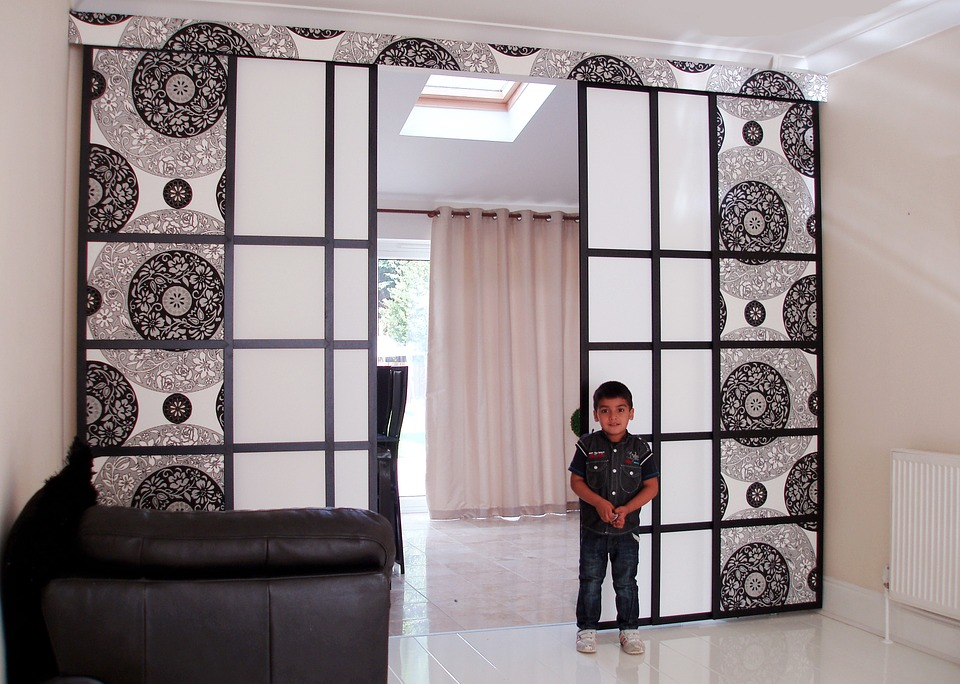 A Beautiful Iron Room Divider Adds Interest