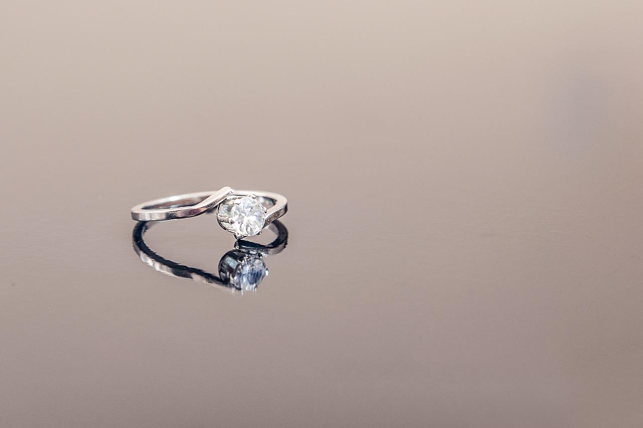 Beautiful Princess Cut Diamond Ring