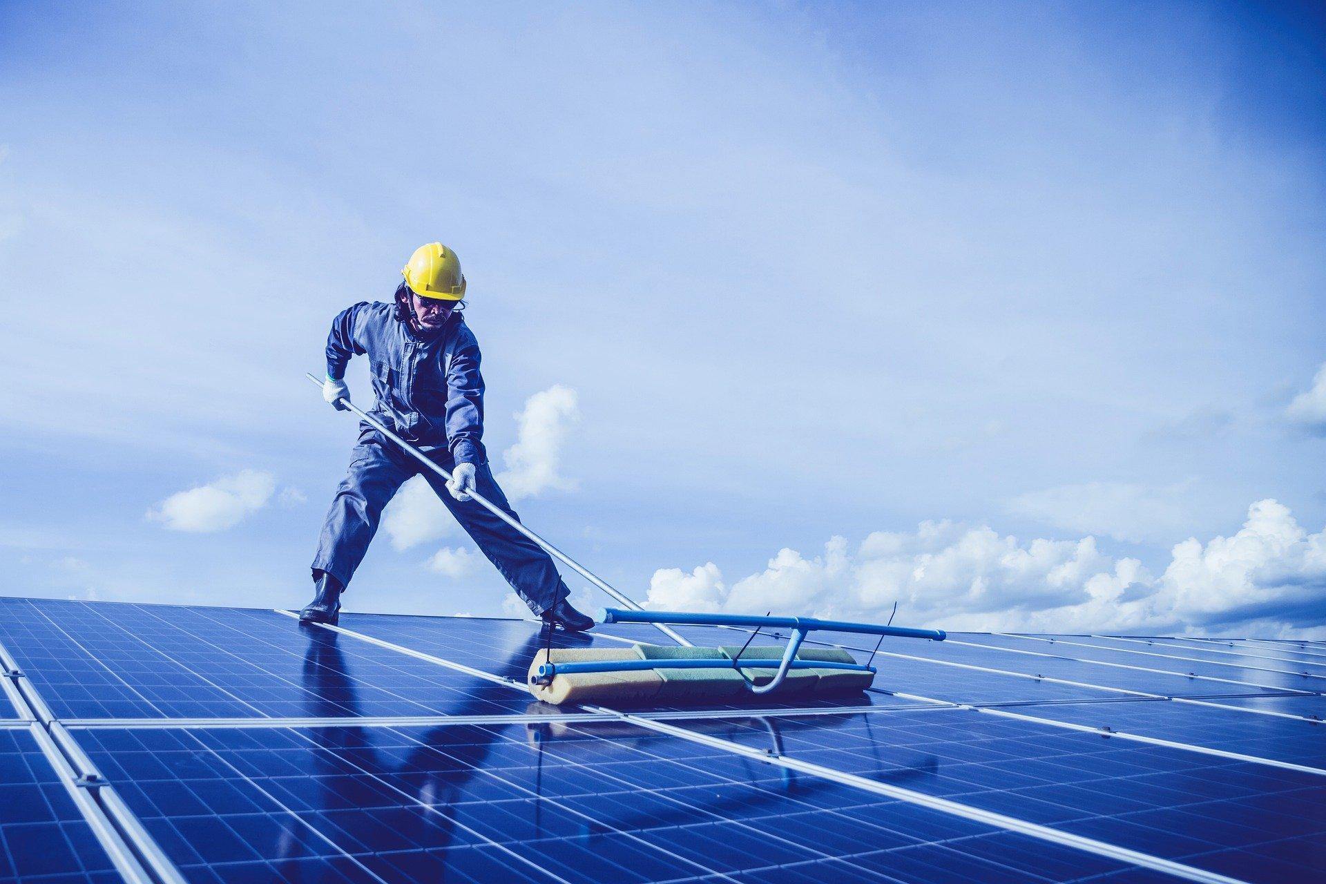 Professional Pressure Washing Solar Panels